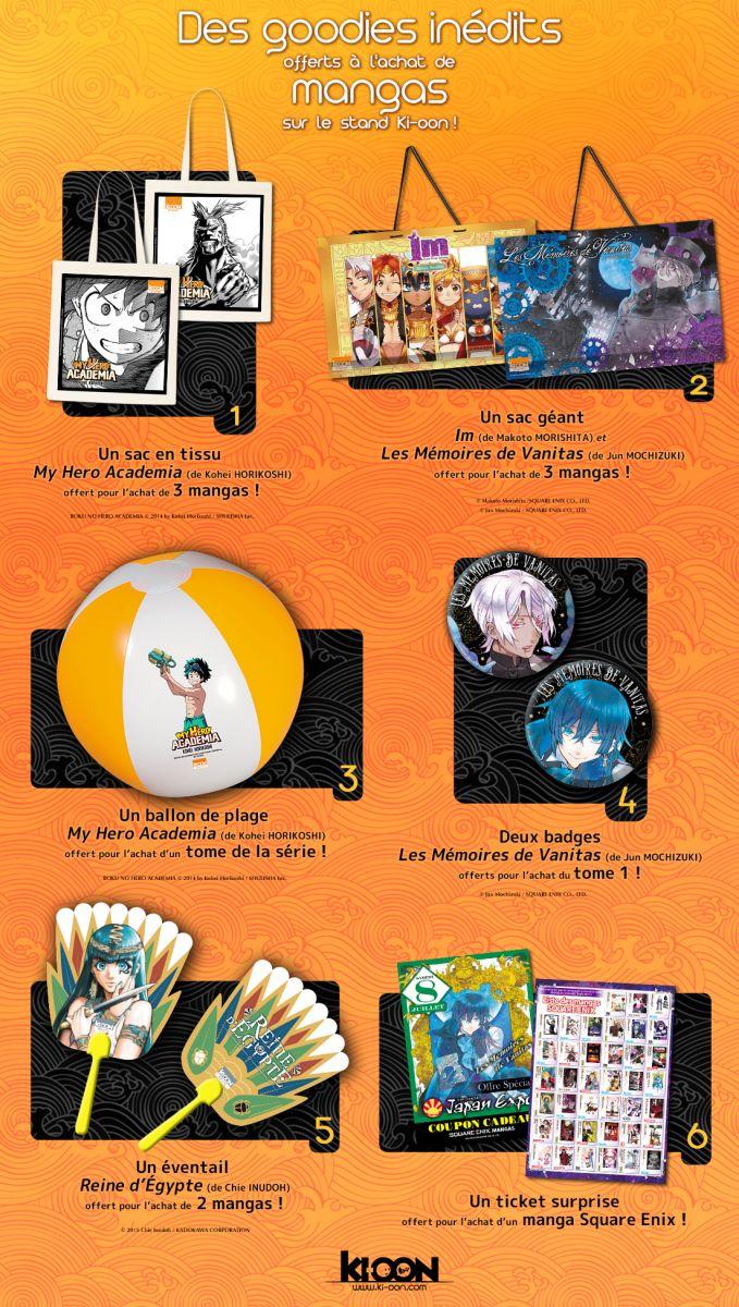 Japan Expo Les Stands : Des goodies sur le stand ki oon à japan expo ! actualités